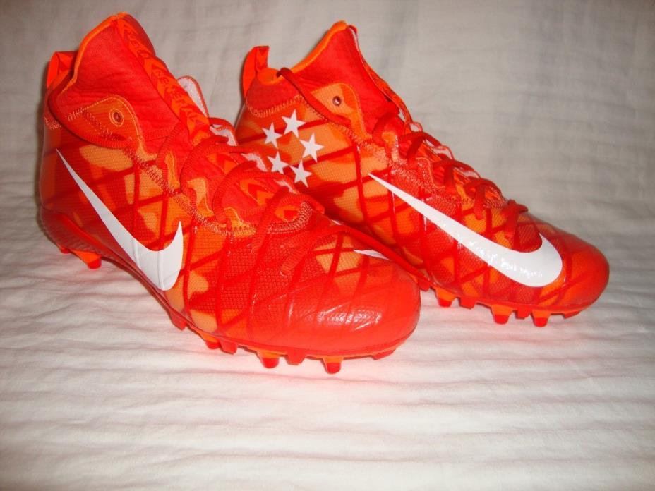Nike 833390 Men Alpha Field General Elte TD Mid Football Cleats Size 11.5 Orange