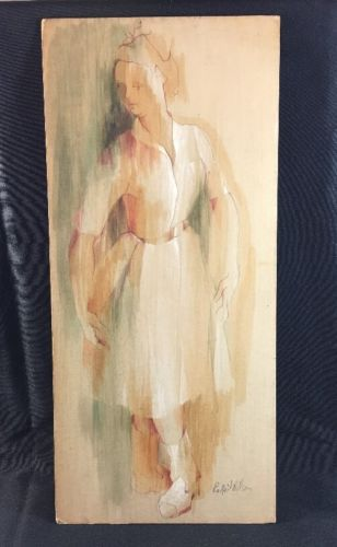 Original Artwork LaNeil Wilson Watercolor & Ink Nurse Dancer 8 1/4