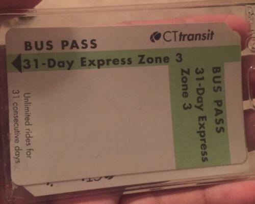 CT RIDES - ZONE 3 Bus Pass