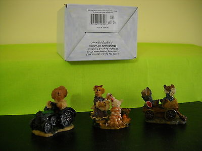 BOYDS VILLAGE ACCESSORY BILLY AND KYLE, FARMER DAN & THE PLOW  STYLE #19547-1