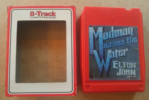 Madman Across the Water by Elton John  8 track tape tested w/sleeve