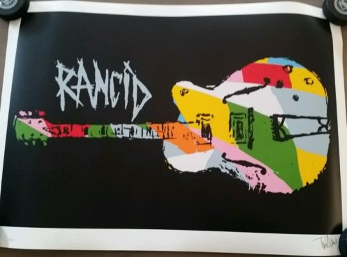 Tim Armstrong Timebomb Rancid Signed Lithograph Print Poster Nine Color Guitar
