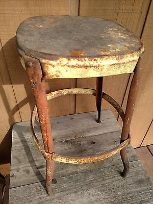 Vintage, Kitchen, Shop, General Purpose Stool, Steel, Steampunk