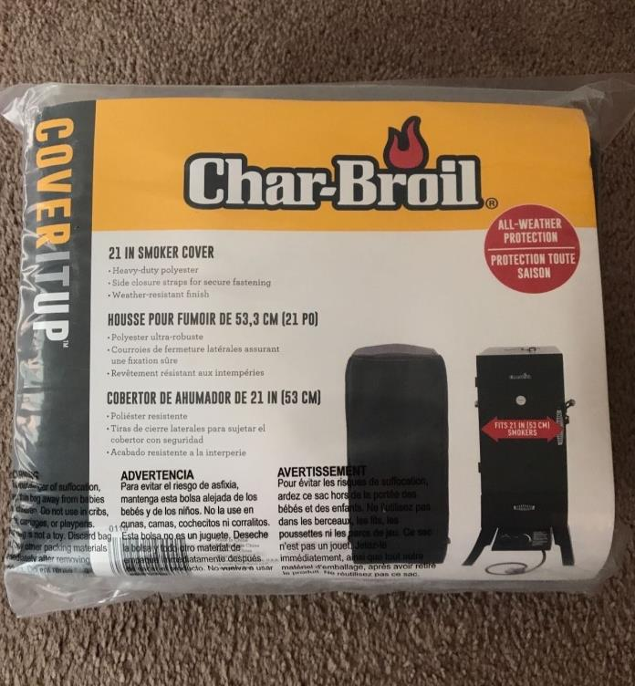 Char-Broil 21-Inch Outdoor Heavy-Duty Polyester Smoker Cover