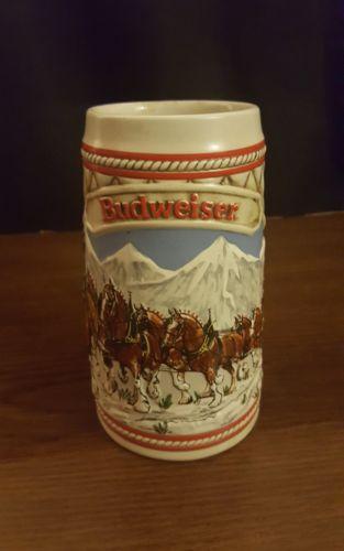 1985 A SERIES ANHEUSER BUSCH BUDWEISER Ceramarte CLYDESDALE Holiday Beer Stein