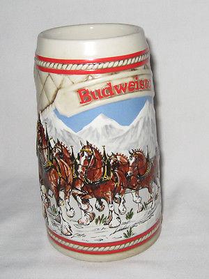Anheuser-Busch Budweiser Christmas Stein -