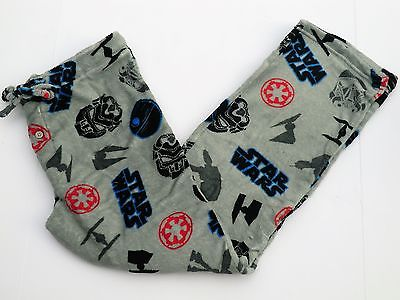 Mens XL Star wars pajamas pants fleece gray new lounge at at walker tie fighter