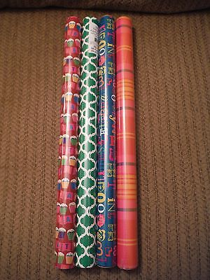 NEW Lot of 4 BIRTHDAY or Any Occasion Wrapping Paper MULTICOLOR - 20