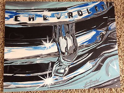 Original 1950's Chevy Truck Grille Acrylic Painting