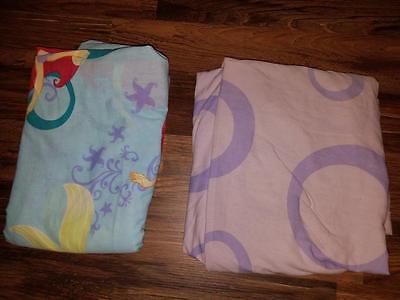 Girl's twin size little mirmaid sheet set NO CASE 9