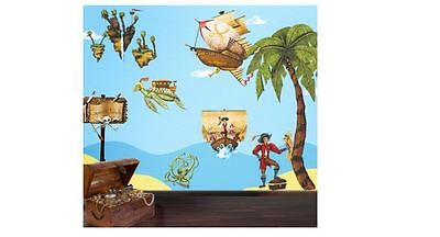 Pirate Bathroom Decor Bath Toys Bed Bedding Wall Stickers For Kids Rooms