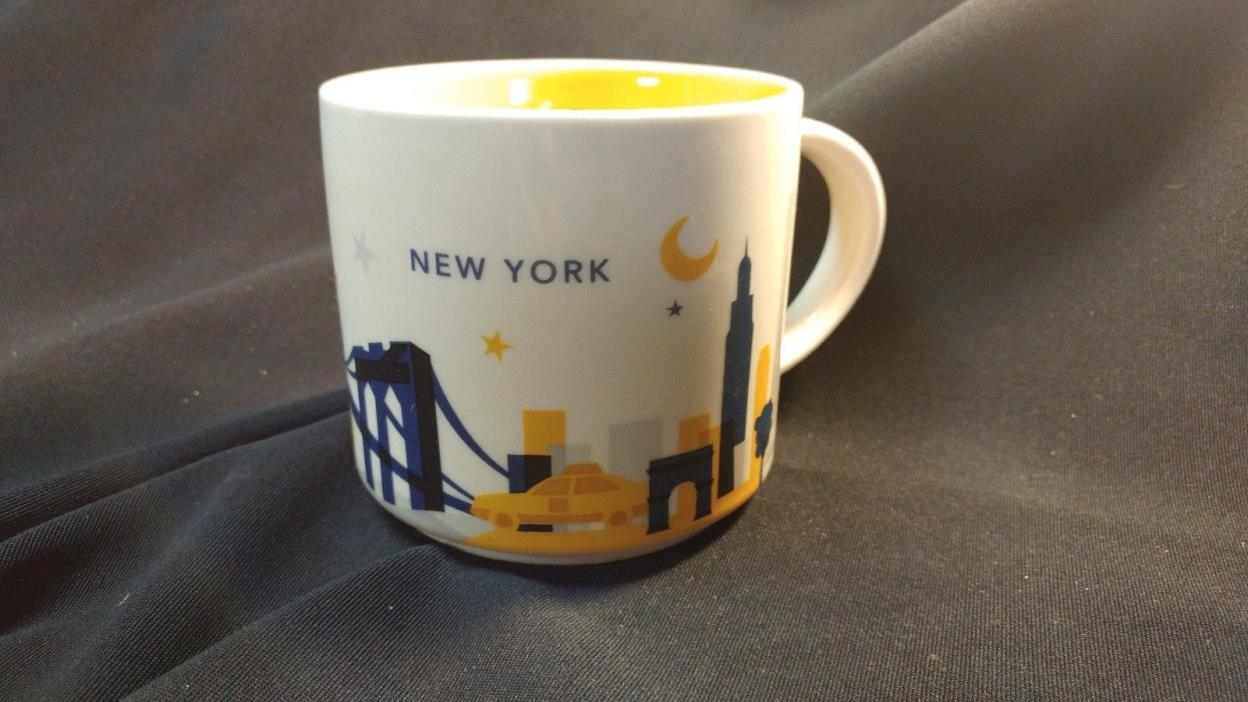 New York City Starbucks Mug 2012 You Are Here Series 14 oz - Skyline Yellow