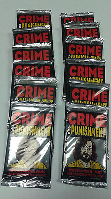 Crime and Punishment Collector Card Packs Lot of 12