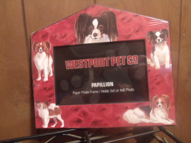 Westport Pet Co. Papillion Dog Breed Paper Photo Frame NEW