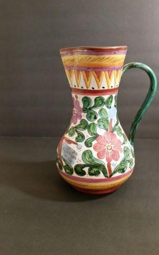 Deruta Italian Floral Pottery Vase