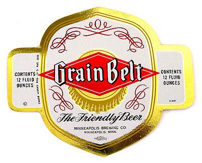 Minneapolis Brewing Co GRAIN BELT - FRIENDLY BEER foil beer label MN 12oz  F-221