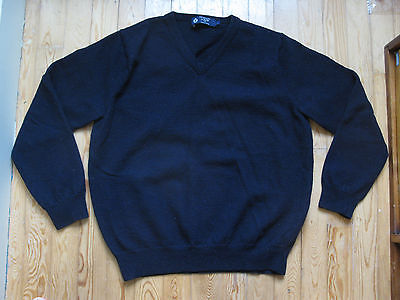 J. Crew Merino Wool Navy Blue Sweater Boys Size L