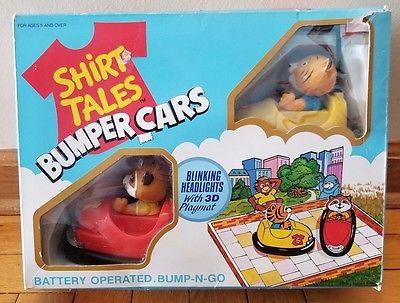 Shirt Tales Bumper Cars Galoob Vintage 1980's Bump-N-Go Original Box by Halmark