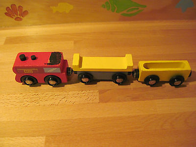 Wooden Trains Lot of 3 - Thomas Trains Wooden Railway Compatible