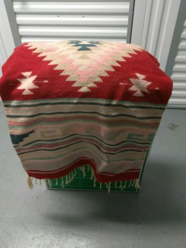 BEAUTIFUL VINTAGE WOOL WOVEN HORSE SADDLE BLANKET GOOD CONDITION 54
