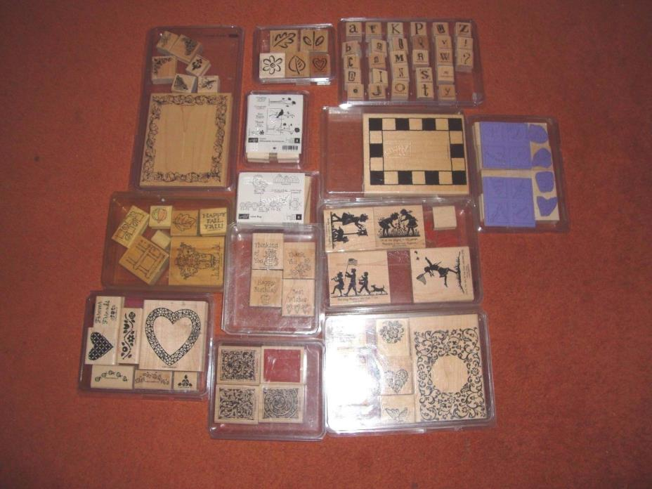 Huge Mixed Lot Of 101 Stampin Up Stamps For Scrapbooking And Crafts