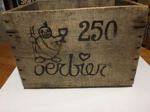 De Dolle Oerbier Reserva Vintage Wooden Beer Crate