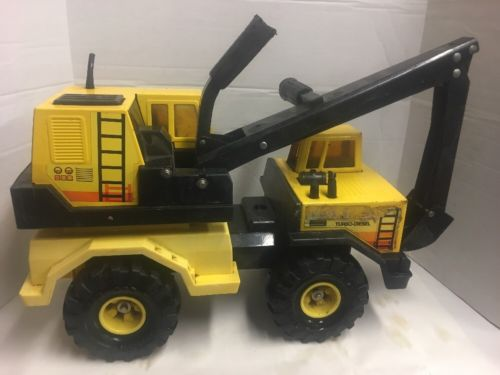 Vintage Tonka Turbo Diesel Backhoe Excavator Construction Truck