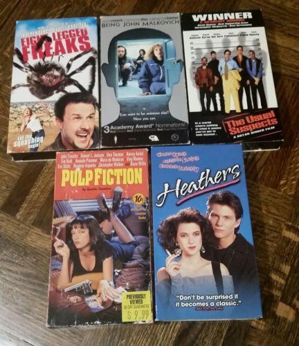 Cult Classic VHS Lot - Heathers, Eight Legged Freaks, Pulp Fiction