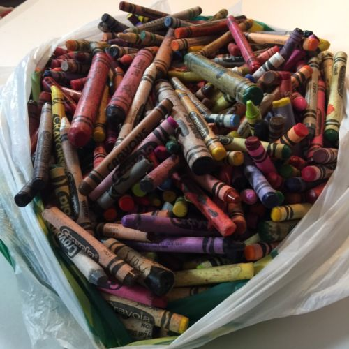 5 Lbs 3 Oz Bulk Used Lot Art Craft Melt Down Crayons