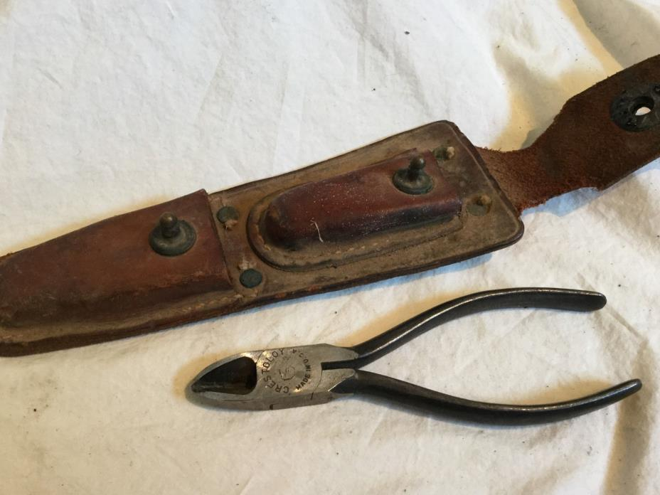 WWII CS-34 US ARMY SIGNAL CORPS LINEMAN POUCH WITH PLIERS