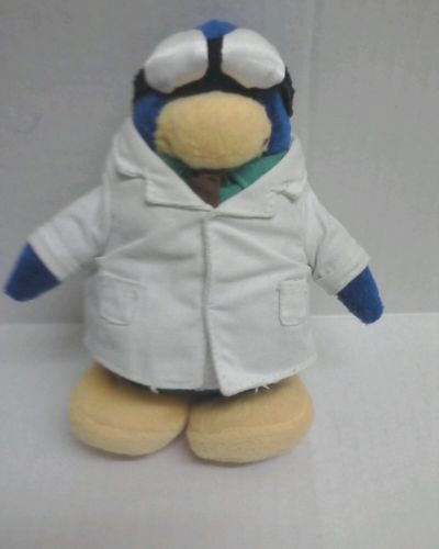 Club Penguin Doctor Stuffed Animal Toy