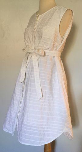 GAP MATERNITY White Cotton Dress. Resort. S 4 6