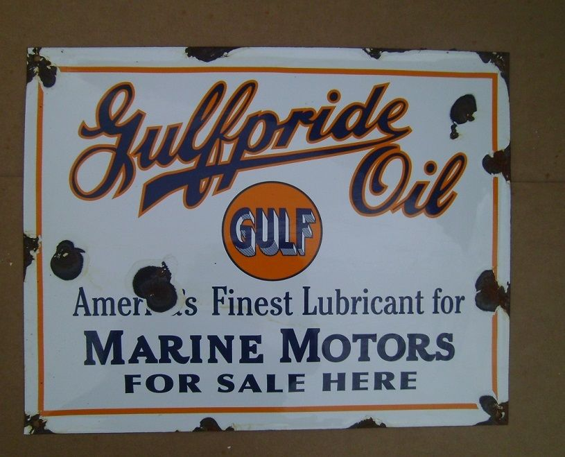 Gulf Oil Sign - For Sale Classifieds