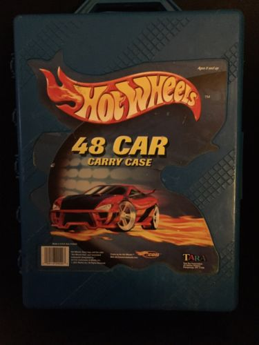 Hot Wheels Cars Lot Matchbox Blue Storage Case Carry 48 Diecast Truck Car Bus