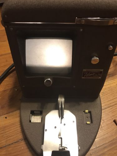 Vintage BELL & HOWELL 16mm FILMO Film VIEWER W/ REWIND Arms  Case Beautiful