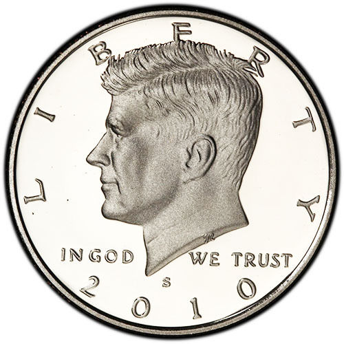 2010 S Silver Proof Kennedy Half Dollar