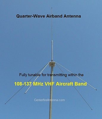 Airband Transceiver Scanner Antenna, VHF Aircraft, Aviation, Tunable 108-137 MHz
