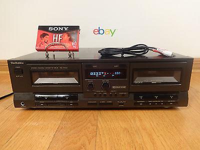 Technics RS-TR212 Dual Cassette Tape Deck DUAL Auto-Reverse 1996 Japan TESTED OK