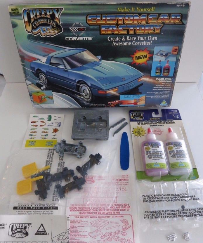 Creepy Crawlers Thingmaker Custom Car Factory Corvette Plasti Steel Goop Toy Max