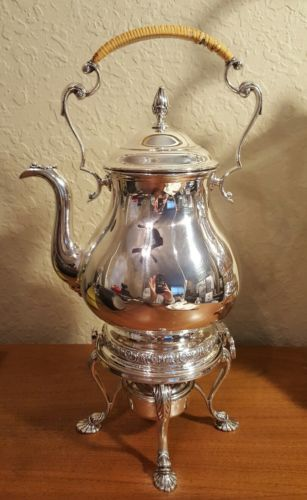 sterling silver tipping kettle teapot International prelude