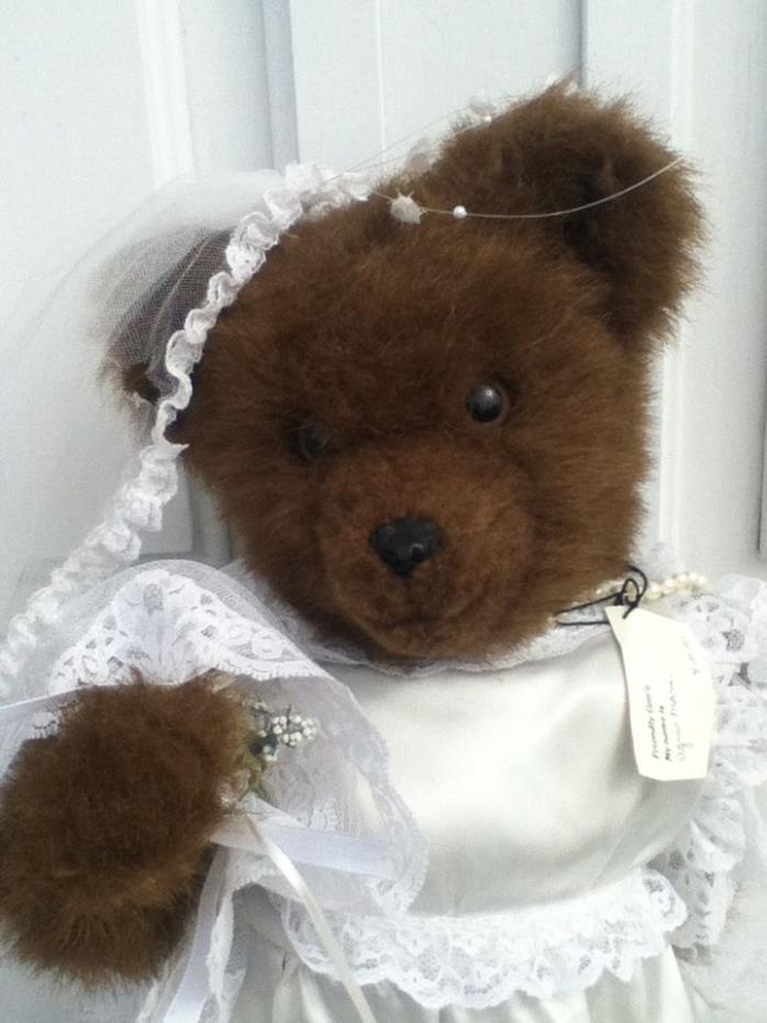 Vintage Brown Teddy Bear Bride18