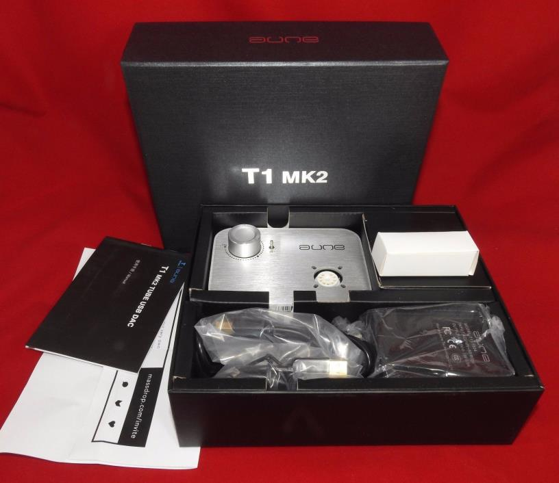 NEW -- AUNE T1 MK2 Asynchronous Clock Amplifier USB DAC 24bit/96kHz -- 6922 tube