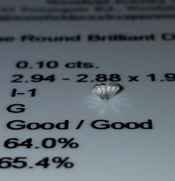 Round Brilliant Cut Loose Diamond APP: 0.3k 0.10CT ($350 value)