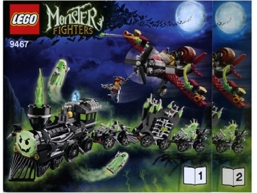 INSTRUCTIONS ONLY LEGO GHOST TRAIN 9467 Monster Fighters manual books from set