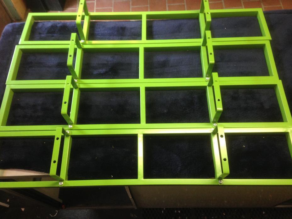 4 IKEA Lerberg Media Wall Mount CD DVD Shelf Rack charcoal grayblack 10035 Used