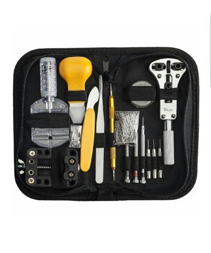 144 Pcs Portable Watchmaker Watch Repair Tools Kit Set Back Case Opene