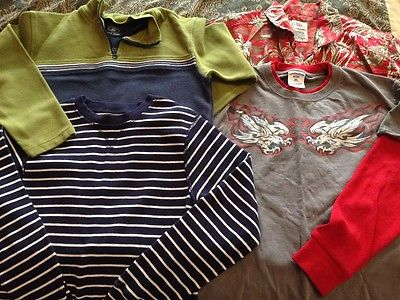 Lot of 4 great boys shirts and pullover size 10/12 Childrens Place Old Navy