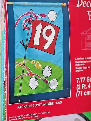 Golf Flag 19th Hole American Greetings Decorative Flag  NEW IN PACKAGE