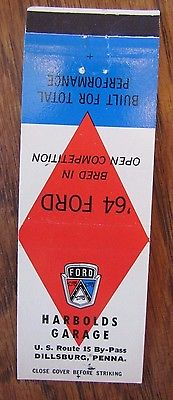 1964 FORD CAR DEALER: HARBOLD'S GARAGE (DILLSBURG, PENNSYLVANIA) -AP25
