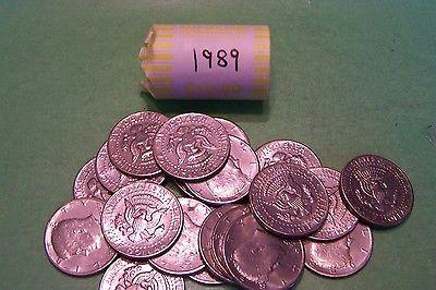 1989 Kennedy Half Dollar Roll (20 coins)